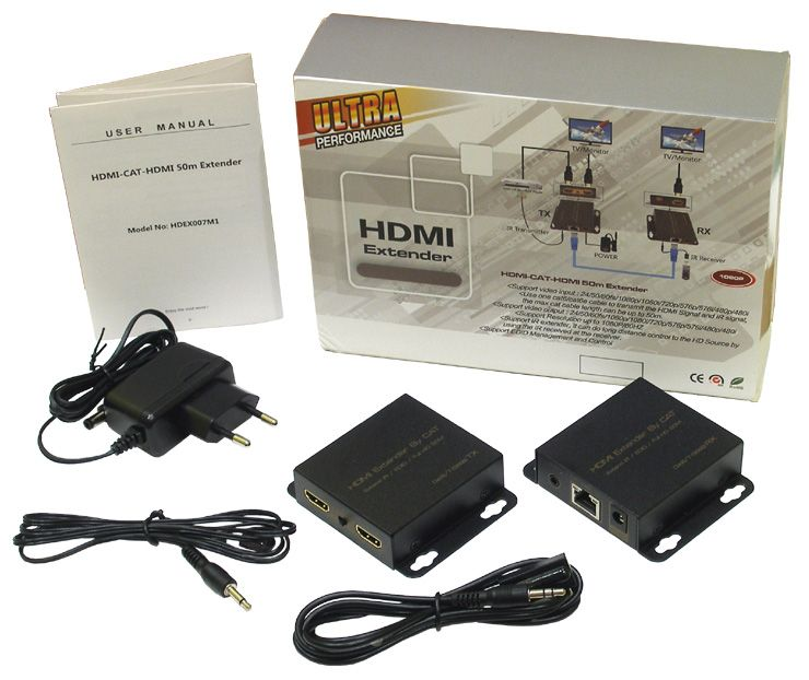 HDMI & IR Extender by single CAT5E/6 HDEX007M1 [1080p / 3D, до 50метров]