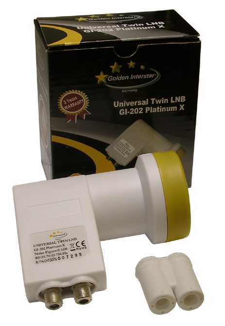 Golden Interstar GI-202 Twin Universal LNB