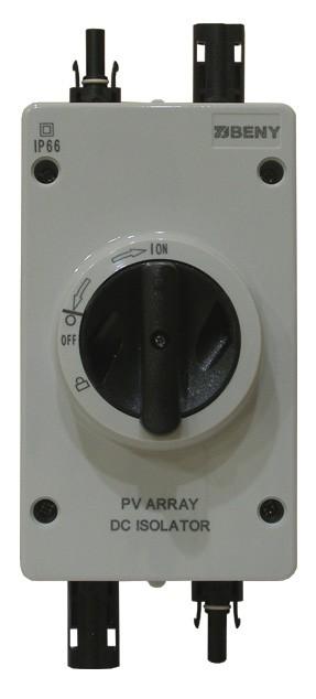 Главный выключатель для массива солнечных батарей BYH-32M 4P/32A/1000v/IP66/MC-4 [с разъёмами MC-4]