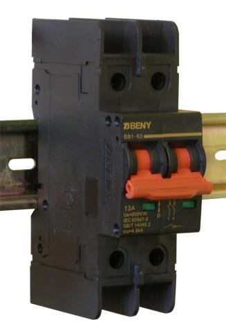 Выключатель автоматический BB1-63 2P 13 600V DC (13А / 600В постоянного тока, 2-х полюсный, неполярный)